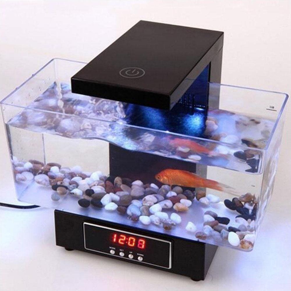 Mini Usb Fish Tank Aquarium Led Light Sound Recycled Water Small Electronic Ecological Aquarium Fish Tank 2 Jpg Dexter S World
